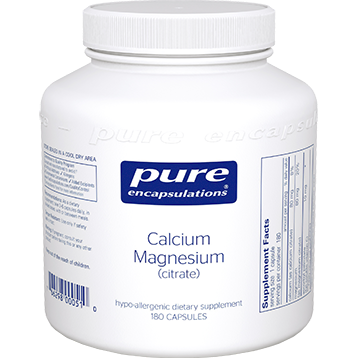 Pure Encapsulations Calcium Mag citrate 80 mg 180 vcaps CAL56