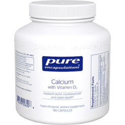 Pure Encapsulations Calcium with Vitamin D3 180 vcaps CA105