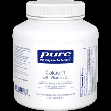 Pure Encapsulations Calcium with Vitamin D3 180 vcaps CA105