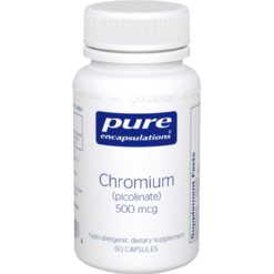 Pure Encapsulations Chromium picolinate 500 mcg 60 vcaps CHR22