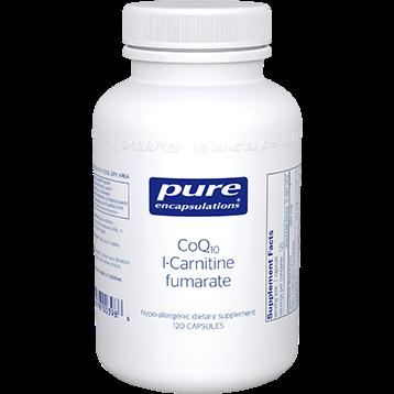 Pure Encapsulations CoQ10 l Carnitine fumarate 120 vegcaps COQ55