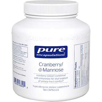 Pure Encapsulations Cranberry d Mannose 180 vcaps CRA26