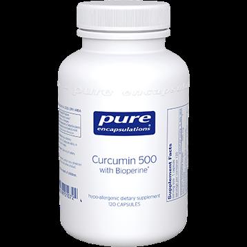 Pure Encapsulations Curcumin 500 with Bioperine® 120 vcaps CUB51