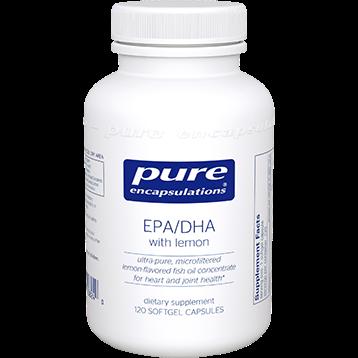 Pure Encapsulations EPA DHA with lemon 120 gels EPA21