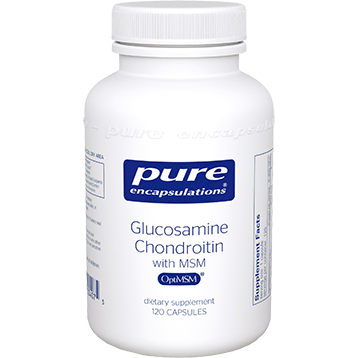 Pure Encapsulations Glucosamine Chondroitin w MSM 120 vcaps GCS10