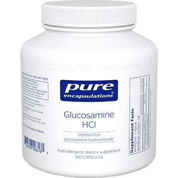 Pure Encapsulations Glucosamine HCl shellfish free180vcaps GL134