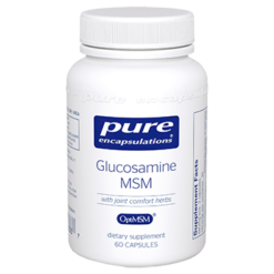 Pure Encapsulations Glucosamine MSM w Joint Comfort 60 vcaps GLU68