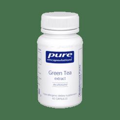 Pure Encapsulations Green Tea extract decaf 60 vegcaps GRE10