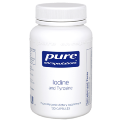 Pure Encapsulations Iodine and Tyrosine 120 vcap IODI7