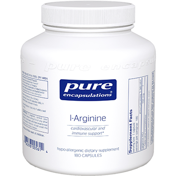 Pure Encapsulations L Arginine 700 mg 180 vcaps ARG20