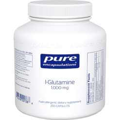 Pure Encapsulations L Glutamine 1000 mg 250 vcaps GLU58