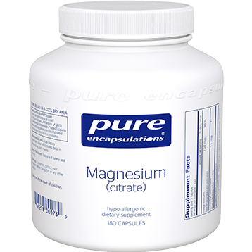 Pure Encapsulations Magnesium citrate 150 mg 180 vcaps MAG46