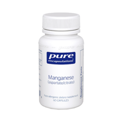 Pure Encapsulations Manganese aspartate citrate 60 vcaps MAN12