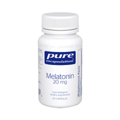 Pure Encapsulations Melatonin 20 mg 60 vcaps MEL43