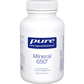 Pure Encapsulations Mineral 650 180 vcaps MINE3