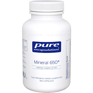 Pure Encapsulations Mineral 650 w out CU amp FE 180 vcaps MINE5