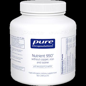 Pure Encapsulations Nutrient 950® w o Cu Fe amp I 180 vcaps NUT21