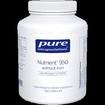 Pure Encapsulations Nutrient 950® w o Iron 360 vcaps NUT17