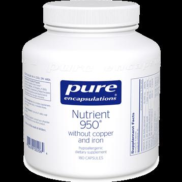 Pure Encapsulations Nutrient 950 w o Cu amp Fe 180 vcaps NUT19