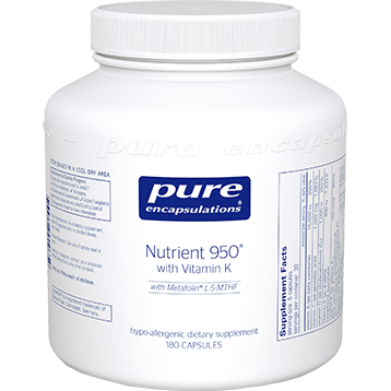 Pure Encapsulations Nutrient 950 with Vitamin K 180 vcaps NUT58