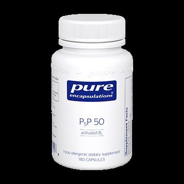 Pure Encapsulations P5P50 activated B 6 180 vcaps P5P50
