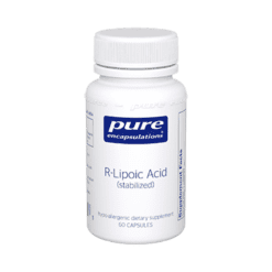 Pure Encapsulations R Lipoic Acid stabilized 60 vcaps RLIPO