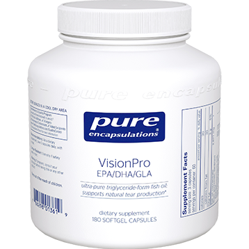 Pure Encapsulations VisionPro EPA DHA GLA 180 caps P13619