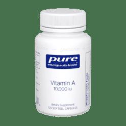 Pure Encapsulations Vitamin A 10000 IU 120 gels VAC1