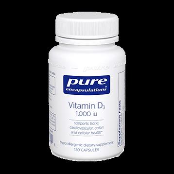 Pure Encapsulations Vitamin D3 1000 IU 120 vcaps VI208