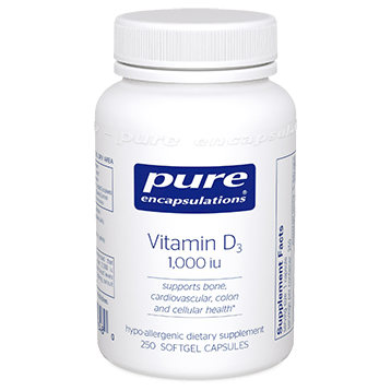 Pure Encapsulations Vitamin D3 1000 IU 250 vcaps VD12