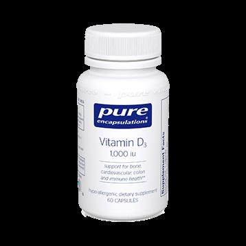 Pure Encapsulations Vitamin D3 1000 IU 60 vcaps VI209