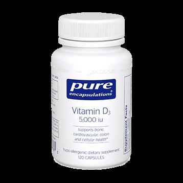 Pure Encapsulations Vitamin D3 5000 IU 120 vcaps VD51
