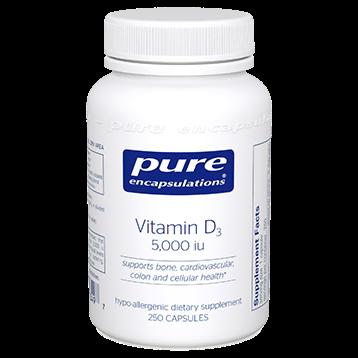 Pure Encapsulations Vitamin D3 5000 IU 250 vcaps VD52