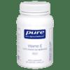 Pure Encapsulations Vitamin E Natural 400 IU 180 gels ECA17
