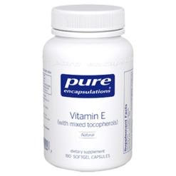 Pure Encapsulations Vitamin E Natural 400 IU 180 gels ECA17