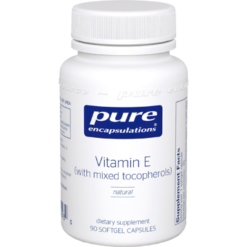 Pure Encapsulations Vitamin E Natural 400 IU 90 gels ECA18