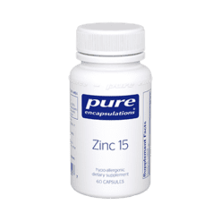 Pure Encapsulations Zinc 15 60 vcaps ZIN39