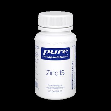 Pure Encapsulations Zinc 15 60 vcaps ZIN39