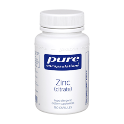 Pure Encapsulations Zinc citrate 180 vcaps ZIN42