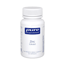 Pure Encapsulations Zinc citrate 60 vcaps ZIN41