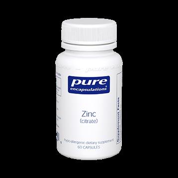 Pure Encapsulations Zinc citrate 60 vcaps ZIN41