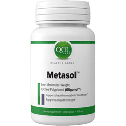 Quality of Life Labs Metasol 100 mg 60 vegetarian capsules Q348