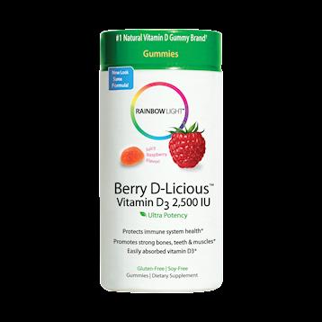 Rainbow Light Nutrition Berry D Licious™ Vit D3 50 Gummies R12141