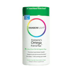 Rainbow Light Nutrition Everyones Omega Fish Flax 60 softgels R11352