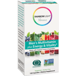 Rainbow Light Nutrition Men039s Multi Energy amp Vit Org 120 vegcaps R80310