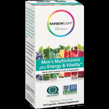 Rainbow Light Nutrition Men039s Multi Energy amp Vit Org 120 vegcaps R80310