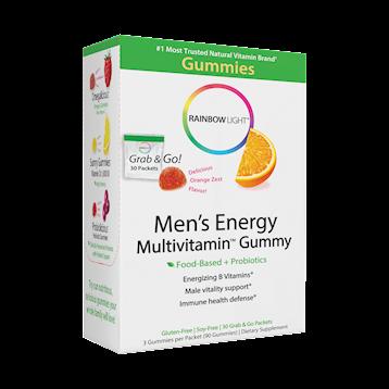 Rainbow Light Nutrition Mens Energy Multivitamin Gummy 30 packets R21618