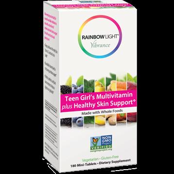 Rainbow Light Nutrition Teen Girl Multi Healthy Skin 180 tab R80815