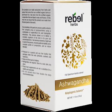 Rebel Herbs Ashwagandha Powdered 1.15 oz RH4246