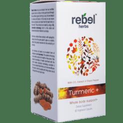 Rebel Herbs Turmeric 60 vegcaps RH4512